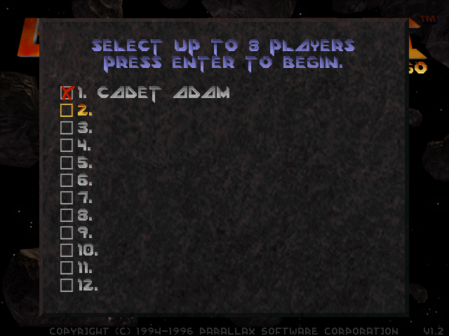 Descent 2: Select players