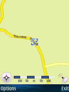Example Usage: Trip to University - GPS Screenshot 2
