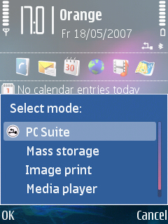 N95 USB Connection and Mode